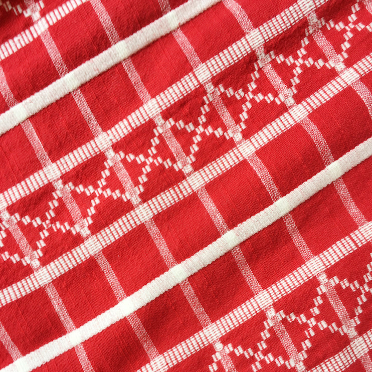 ace&jig textile swatch of gridlock