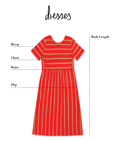 flat image of how to measure ace&jig dresses