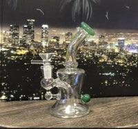"Green ""NOTHING BUT GLASS"" Bong"