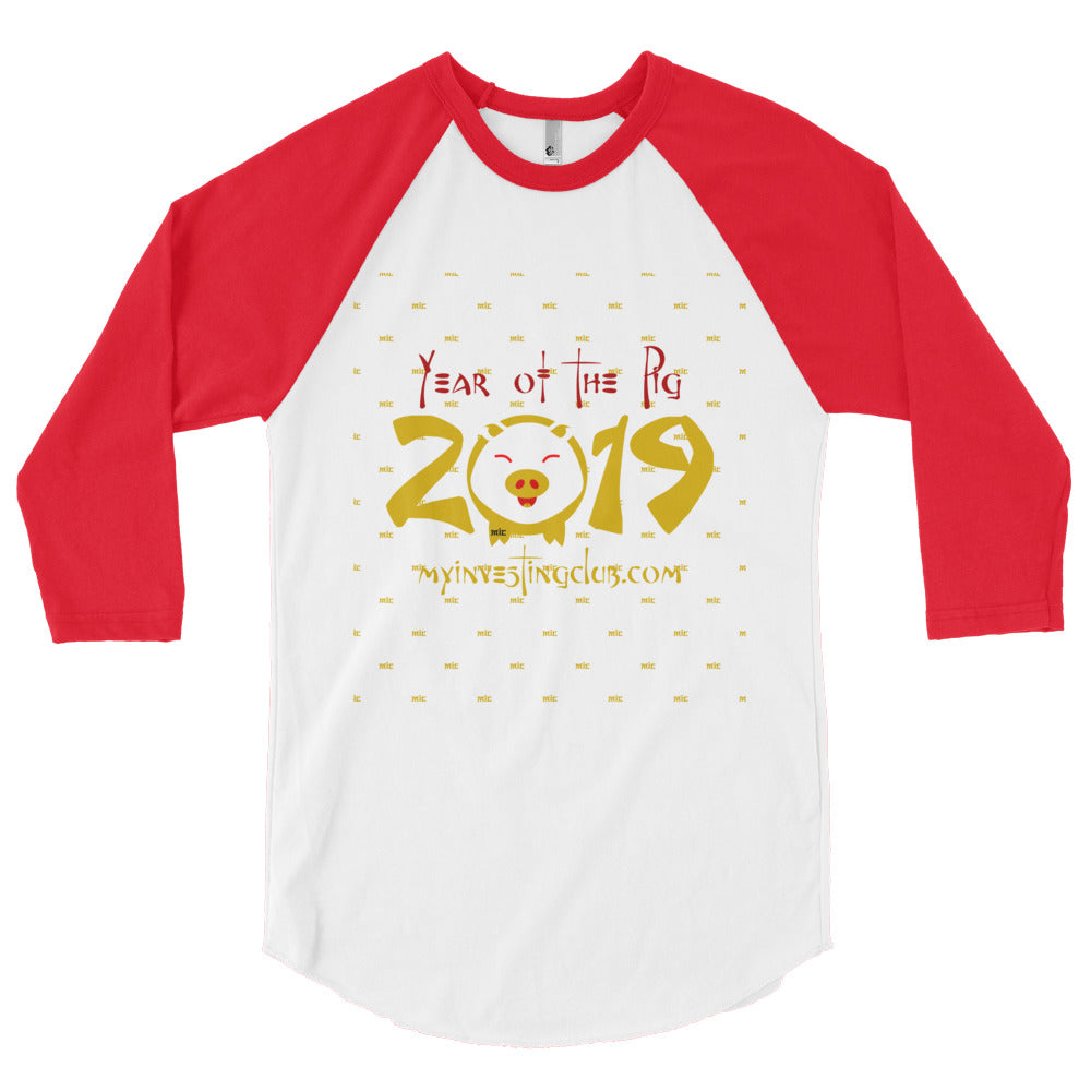 Year Of The Pig Men's 3/4 Sleeve T-Shirt