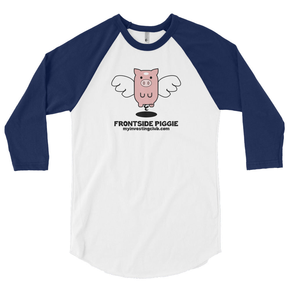 Frontside Piggie Men's 3/4 Sleeve T-Shirt