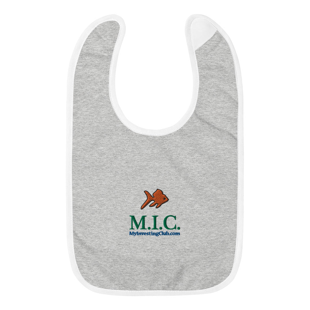 The Trading Fish Embroidered Baby Bib