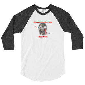 Deathline Skull Men's 3/4 Sleeve T-Shirt