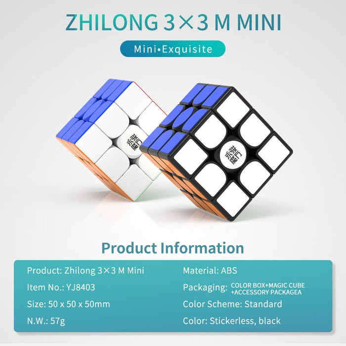YJ ZhiLong 50mm Mini 3x3 Magnetic Speedcube