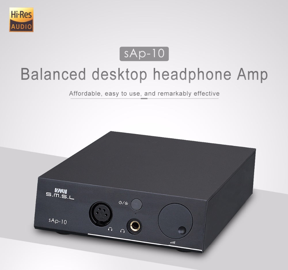 SMSL SAP-10 HI-FI Headphone Amplifier Full Balanced Output XLR and RCA  HiFi-express