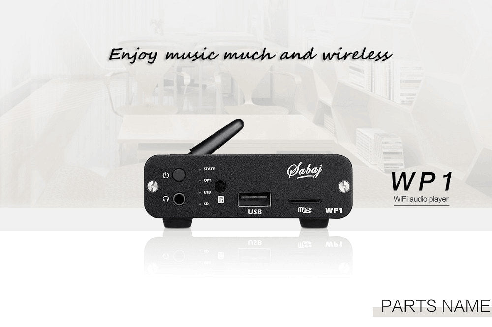 Sabaj WP1 Music Audio Player&Headphone Amp Wireless Wifi Built-in Amp Chip - hifiexpress
