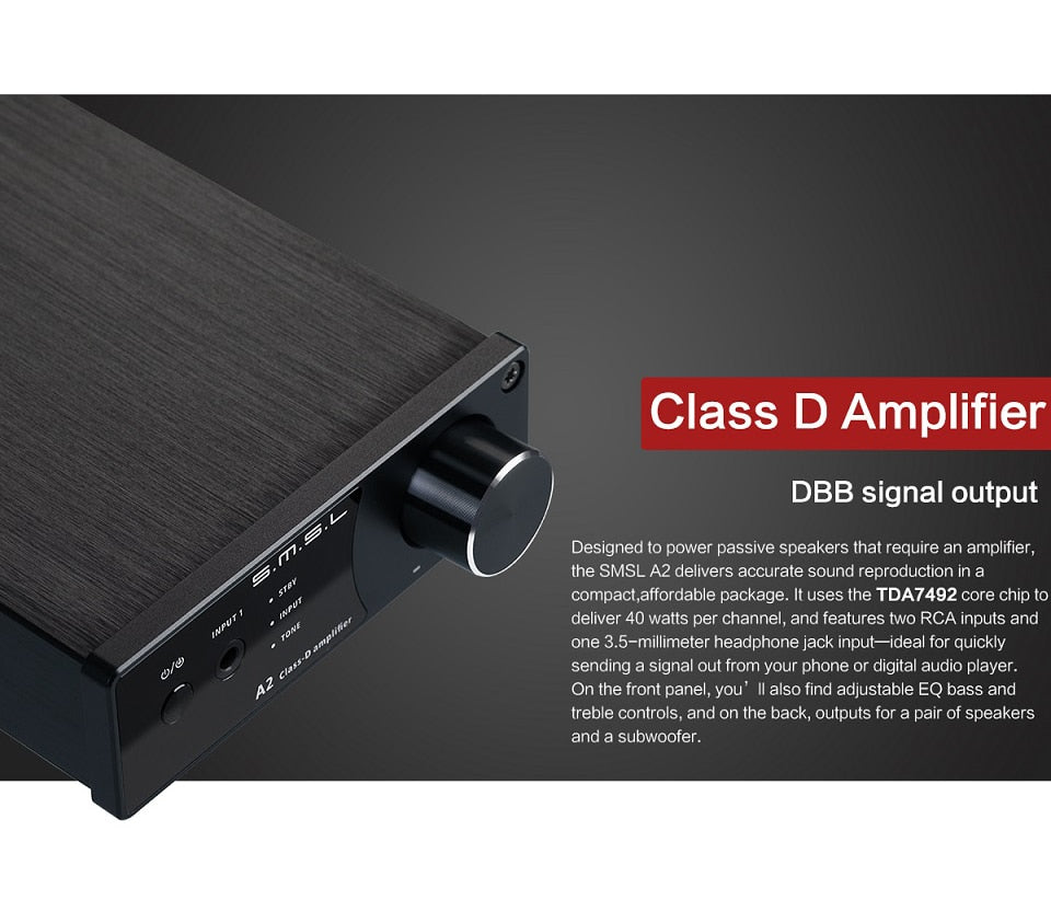 SMSL A2 Audio Digital Home Theater Amplifier  HiFi-express
