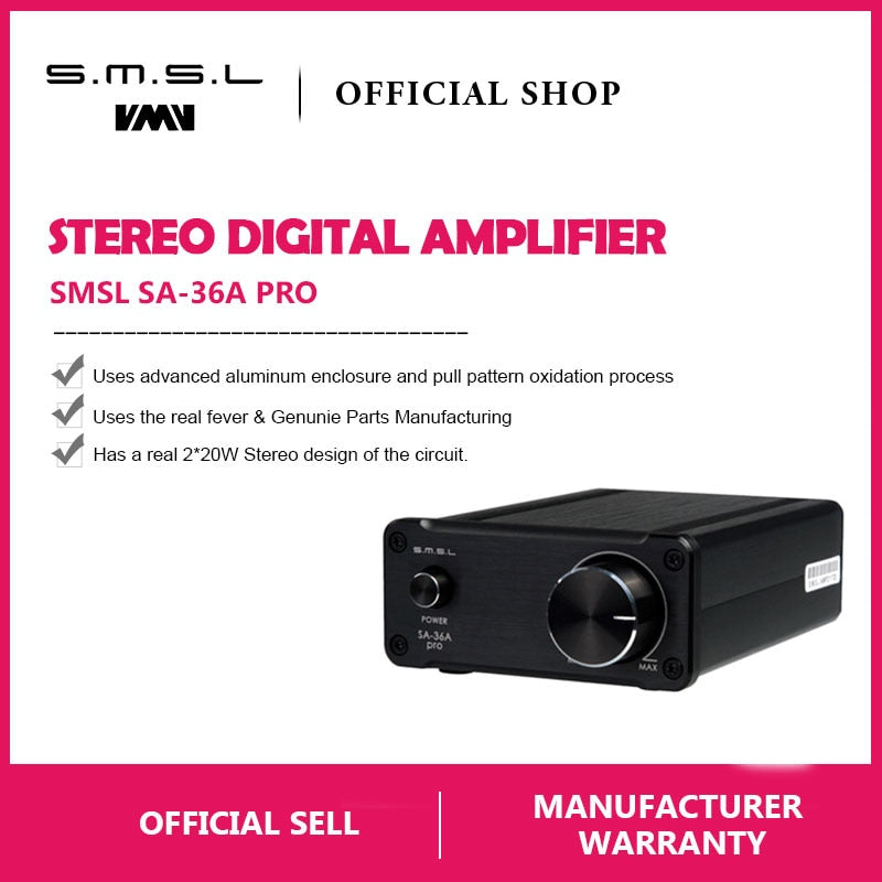 SMSL SA-36A Pro AMP HIFI Big Power Digital Integrated Tripath Stereo Amplifier - hifiexpress