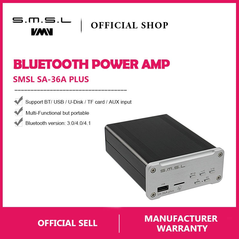 SMSL SA-36A Plus HIFI Audio Class D Amplifier 30W*2  HiFi-express