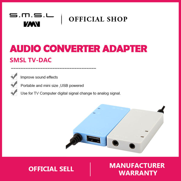 SMSL TV-DAC Digital Optical Coaxial to Analog Stereo RCA - hifiexpress