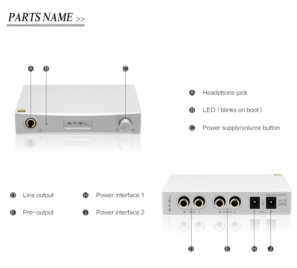 SMSL SAP-12+M8A+P2 Combination Hifi Headphone Amp Decoder Power Amplifiers and Linear Power Supply  HiFi-express