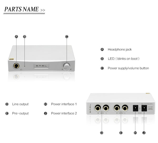SMSL SAP-12+M8A+P2 Combination Hifi Headphone Amp Decoder Power Amplifiers and Linear Power Supply - hifiexpress