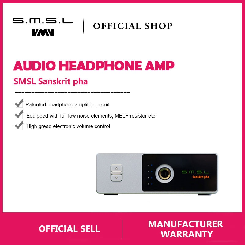 SMSL Sanskrit Pha HIFI Audio Portable Headphone Amp RCA Input 6.35mm Jack  HiFi-express
