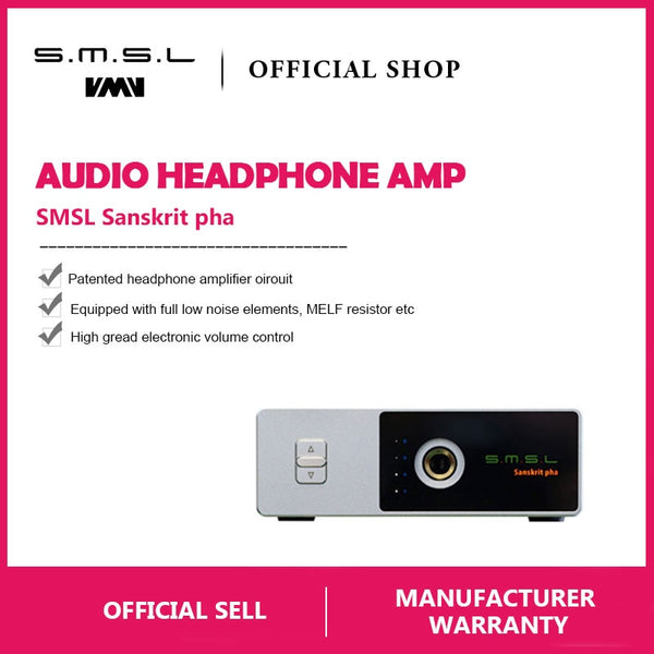 SMSL Sanskrit Pha HIFI Audio Portable Headphone Amp RCA Input 6.35mm Jack - hifiexpress