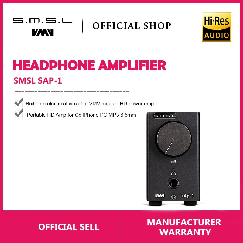 SMSL SAP-1 Mini Portable Desktop Headphones Amplifier  HiFi-express