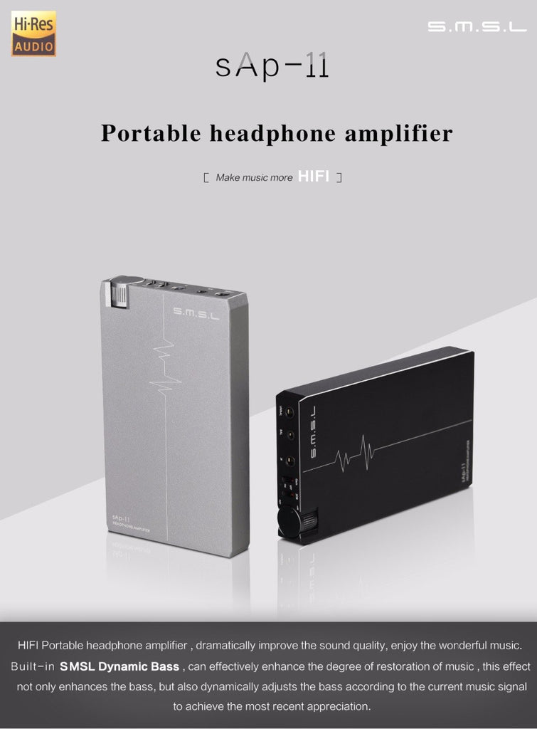 SMSL SAP-11 Hifi Headphone Amplifier Built-in High-capacity Battery  HiFi-express