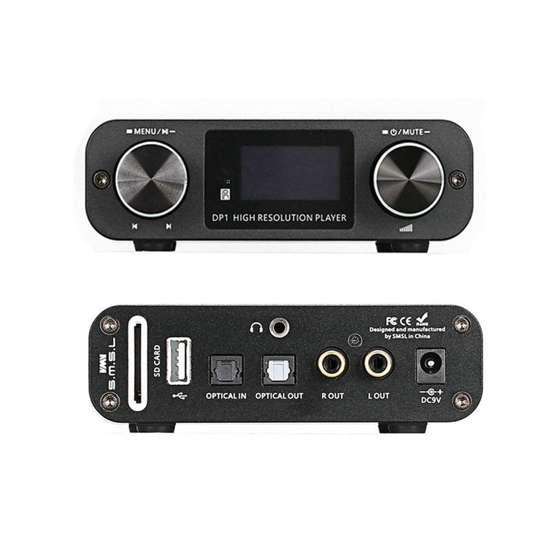 SMSL DP1 Digital Player Audio DAC with Built-in Headphone Amp - hifiexpress