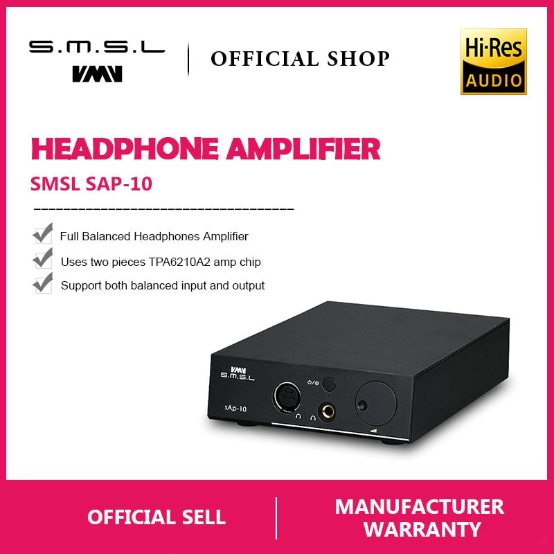 SMSL SAP-10 HI-FI Headphone Amplifier Full Balanced Output XLR and RCA - hifiexpress