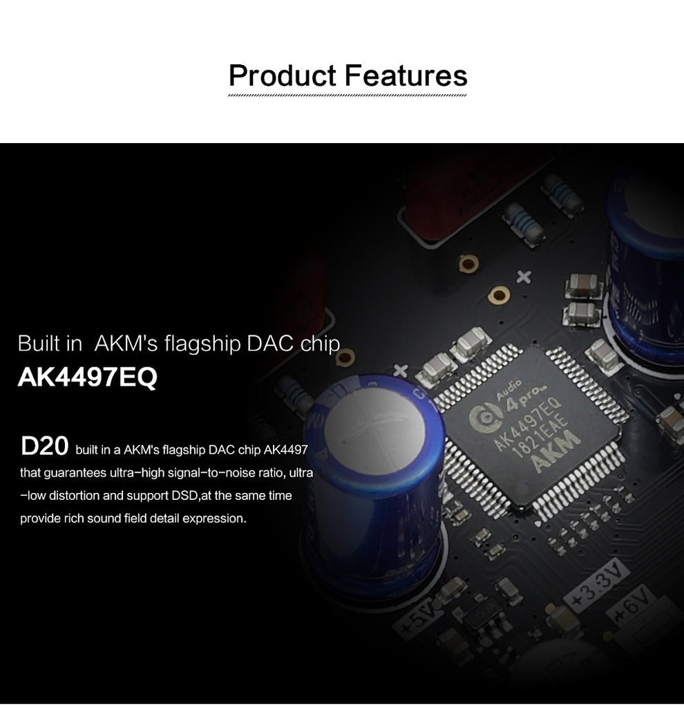 Loxjie D20 HIFI Digital Audio DAC and Headphone Amplifier - hifiexpress