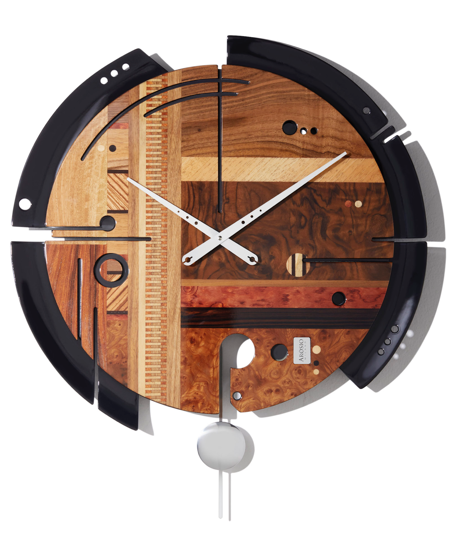Samada Brown - Wood Wall Clock - Arosio Milano