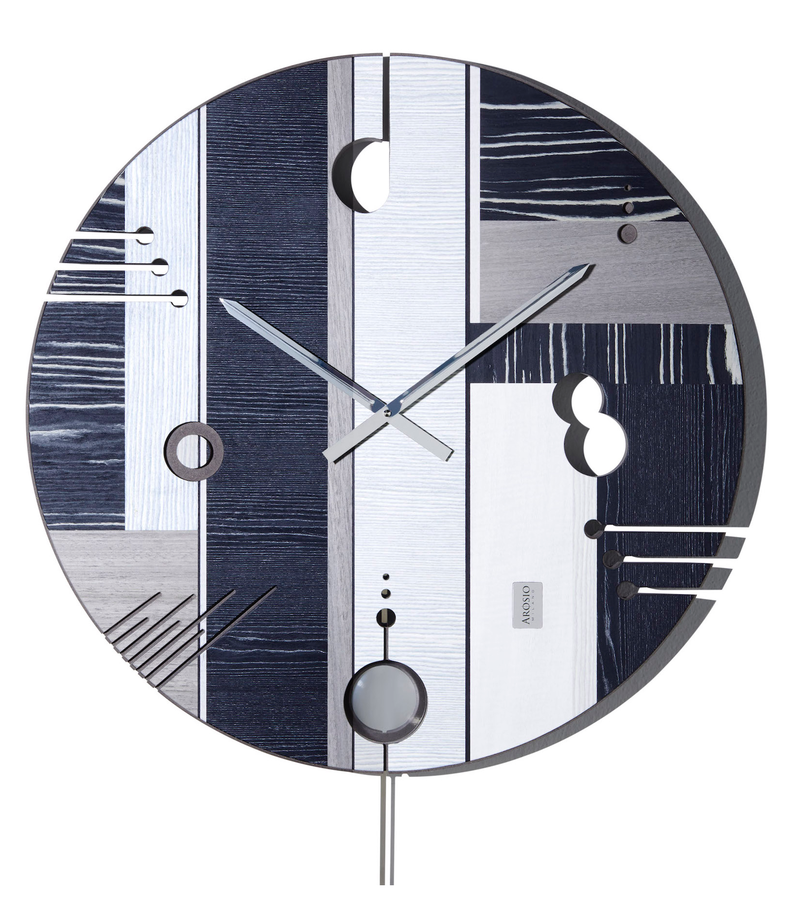 Essential Dark - Wood Wall Clock - Arosio Milano