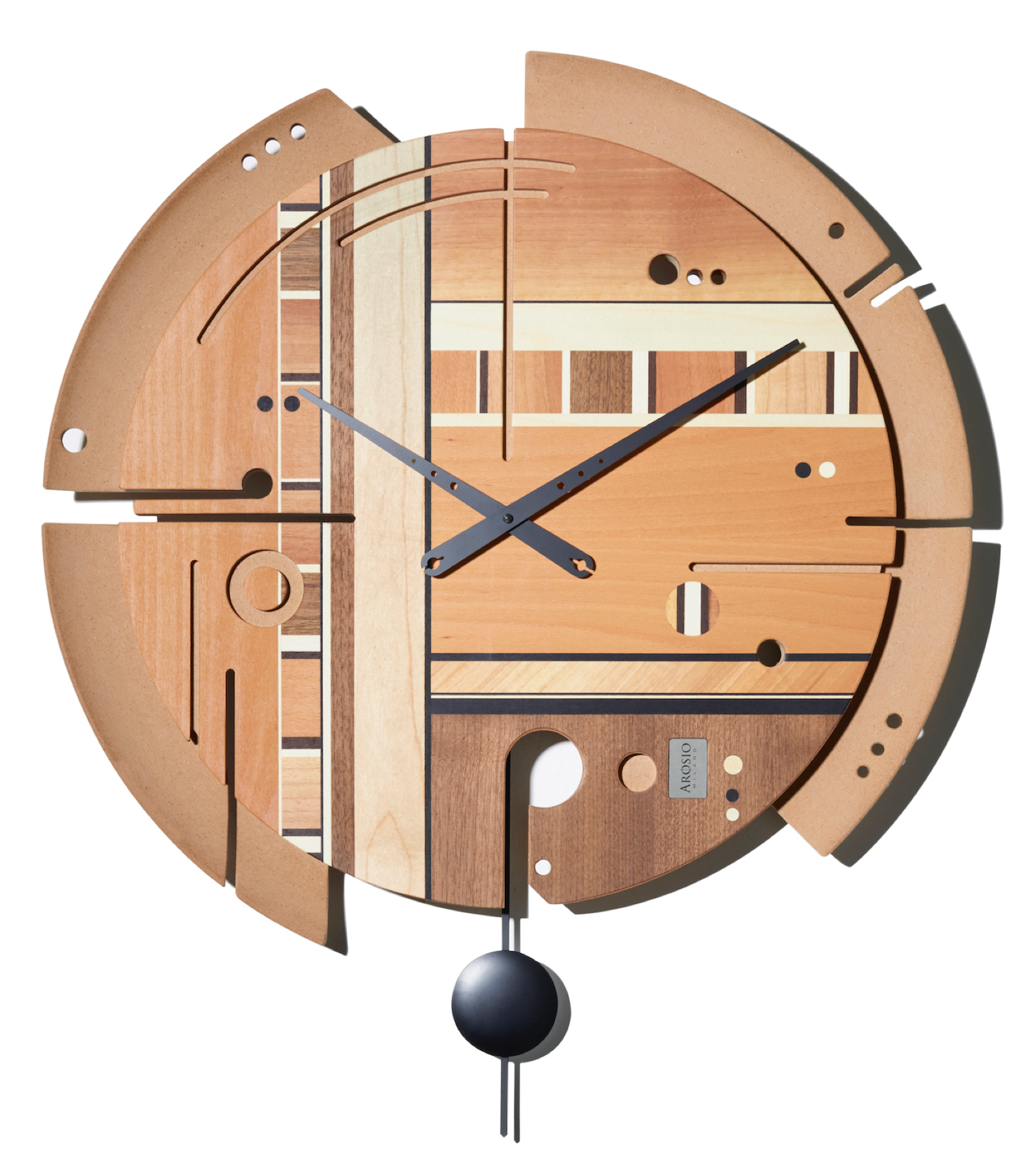 Samada Natural - Wood Wall Clock - Arosio Milano