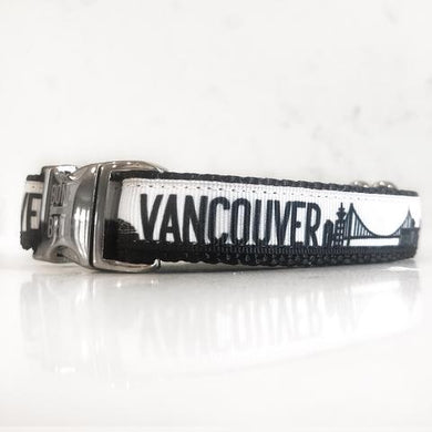 Bone and Bred VANCOUVER Black + Silver Buckle Collar