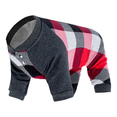 CANADA POOCH Frosty Fleece Sweatsuit PLAID