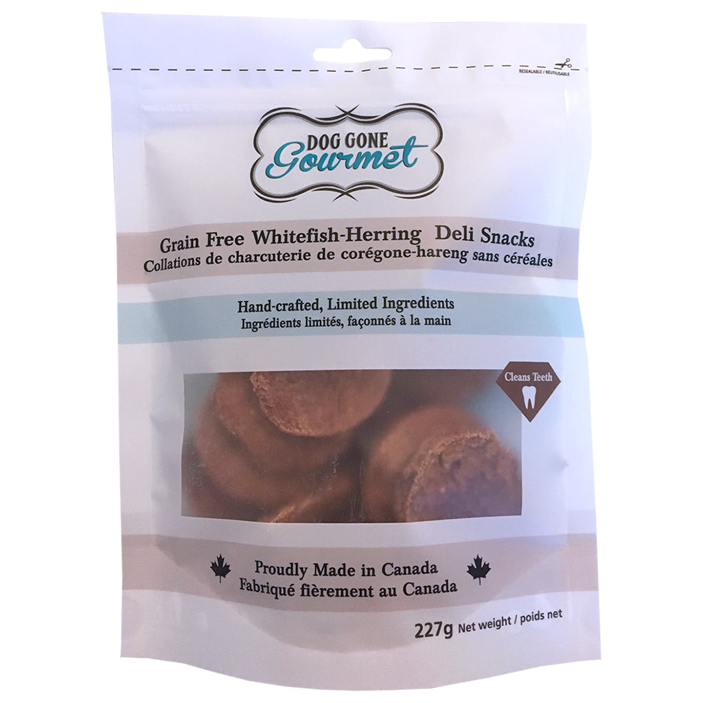 DOG GONE GOURMET White Fish-Herring Deli Snacks 227g