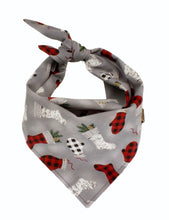 Load image into Gallery viewer, The Triangle Scarf - Holiday Buffalo Plaid