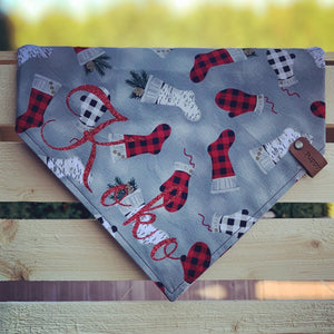 The Triangle Scarf - Holiday Buffalo Plaid