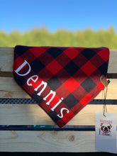 Load image into Gallery viewer, The Triangle Scarf - Red & Black Buffalo Plaid