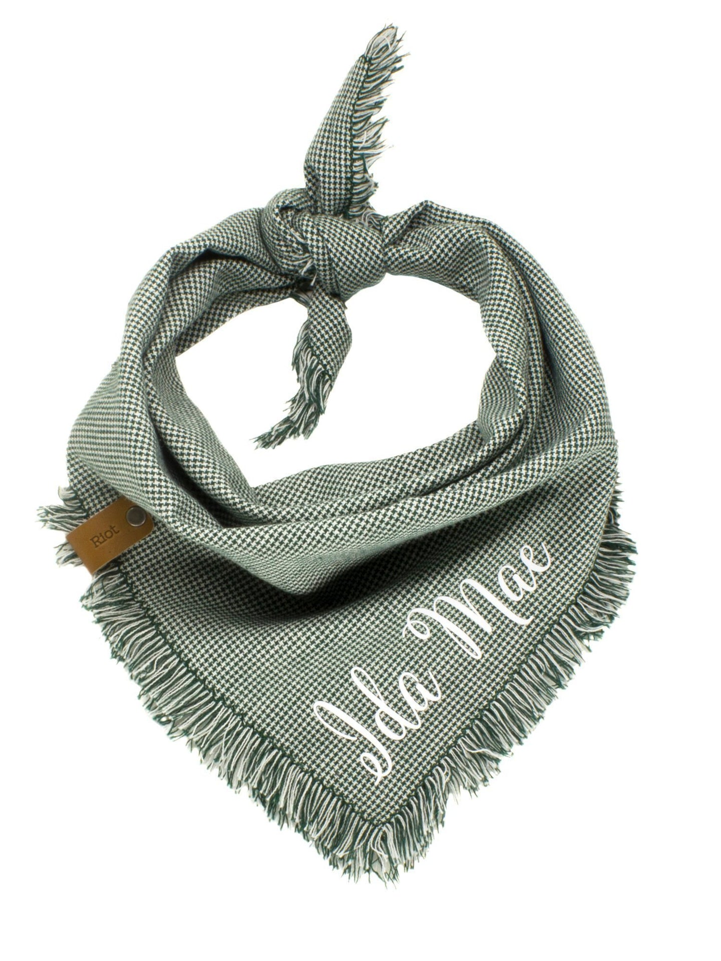 The Triangle Scarf - Houndstooth Green