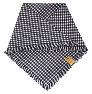 The Triangle Scarf - Blue Gingham