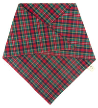 Load image into Gallery viewer, The Triangle Scarf - Red Tartan