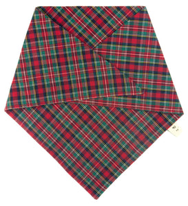 The Triangle Scarf - Red Tartan