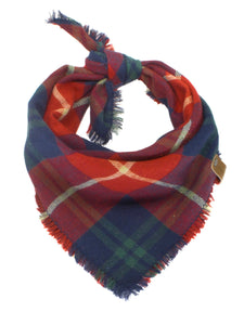 The Triangle Scarf - Blue & Red Plaid