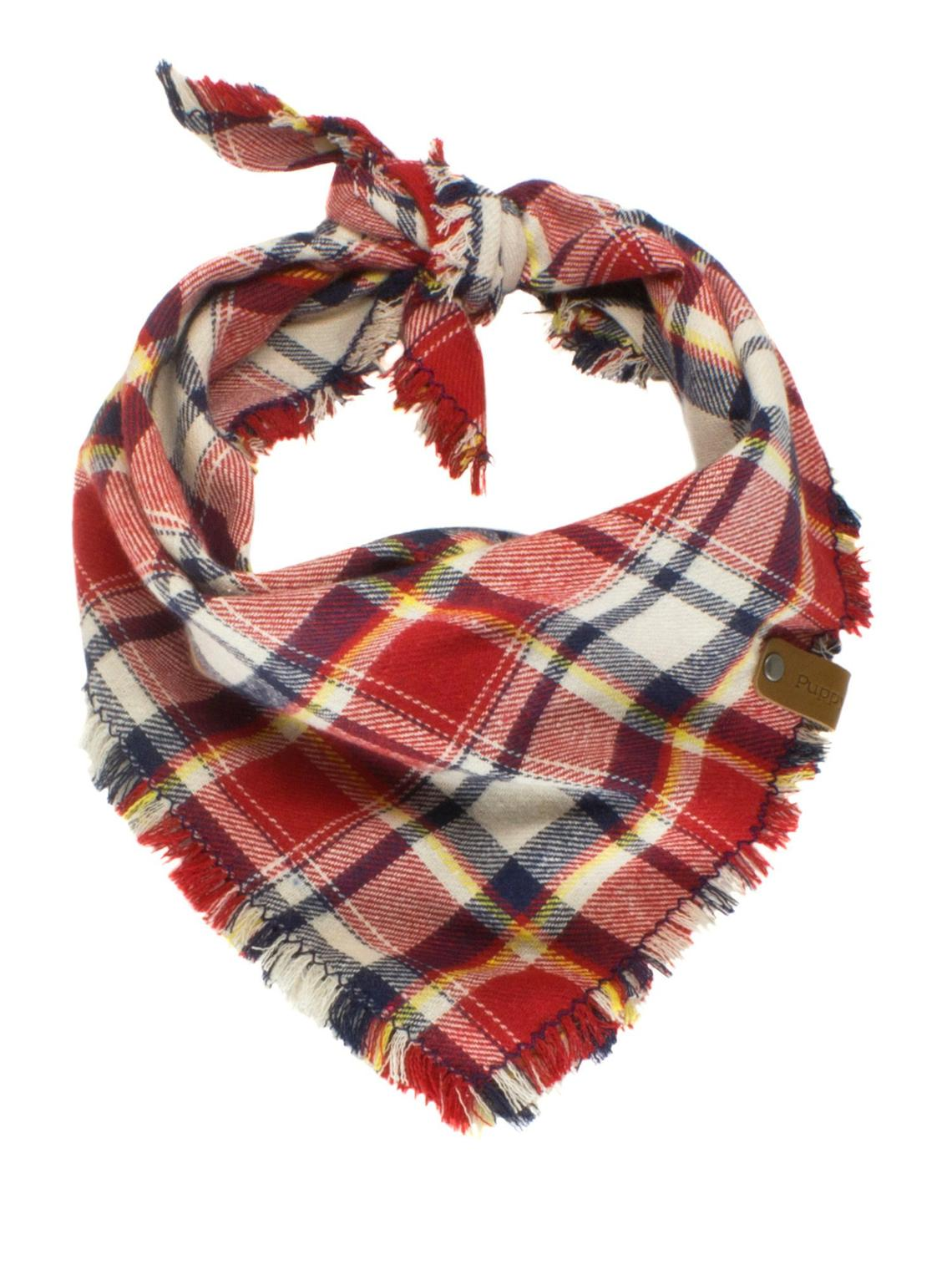 The Triangle Scarf - Blue, Red & White Plaid
