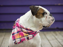 Load image into Gallery viewer, The Triangle Scarf - Hot Pink Plaid