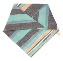 Load image into Gallery viewer, The Triangle Scarf - Blue Chambray Stripe