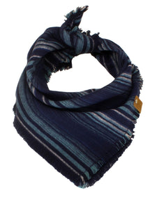 The Triangle Scarf - Blue Multi Stripe