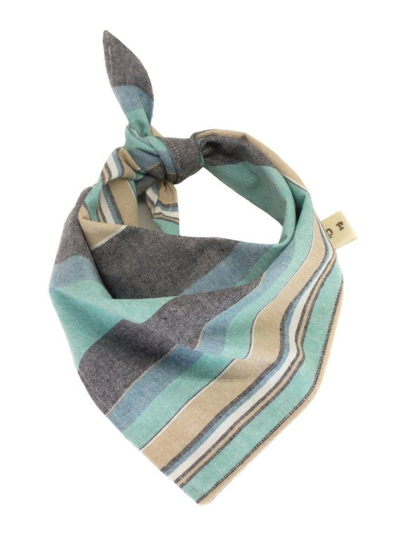 The Triangle Scarf - Blue Chambray Stripe