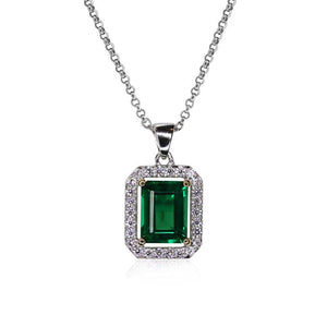 Emerald Border Set Pendant
