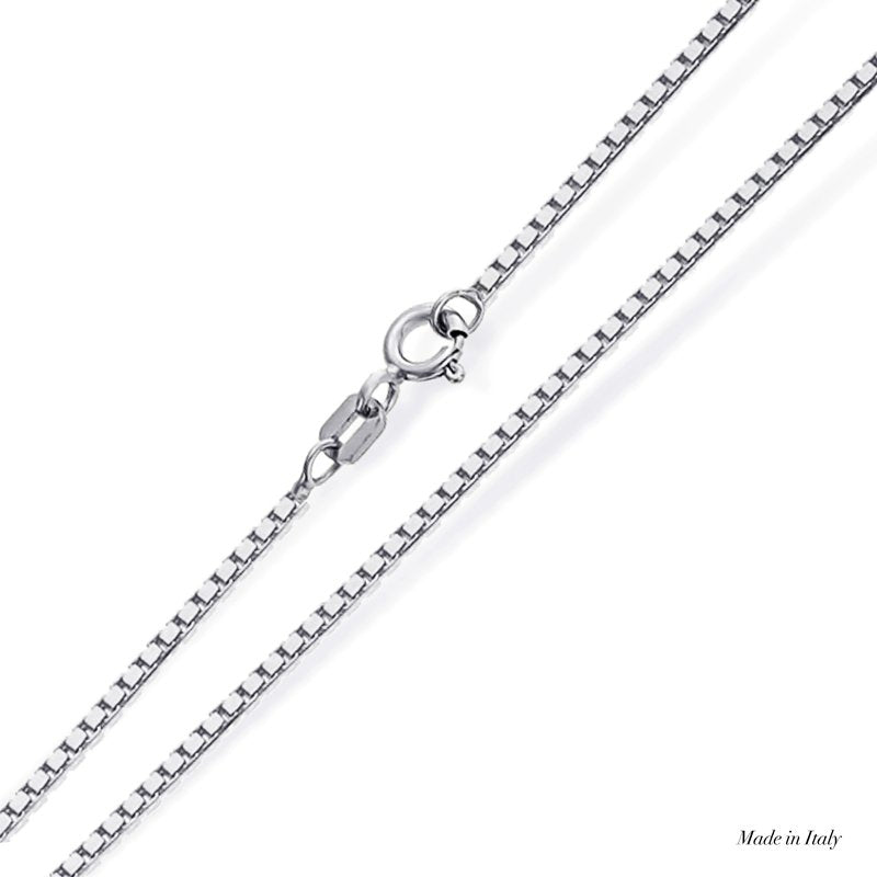 9K White Gold Chain