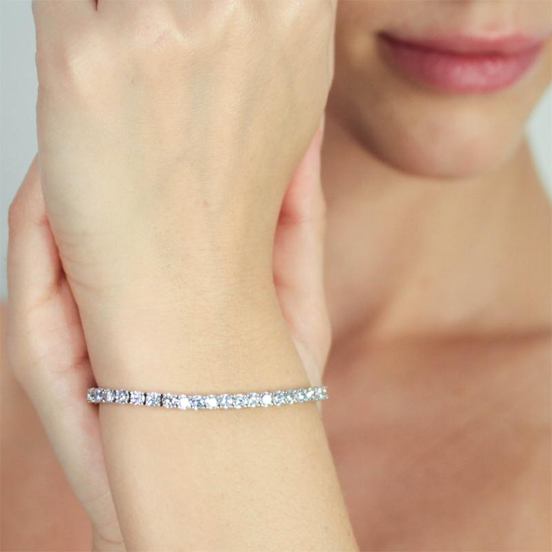9K White Gold Tennis Bracelet