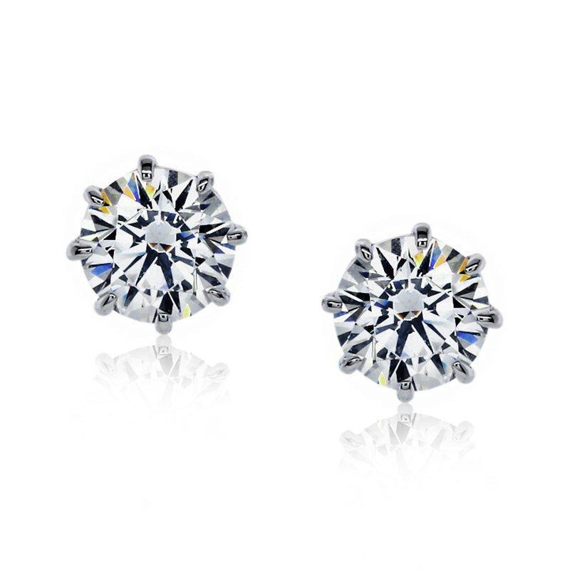 Gabriella Eight Prong Round Studs