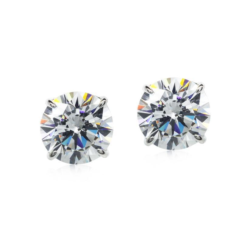 Eternal Four Prong Studs White Gold