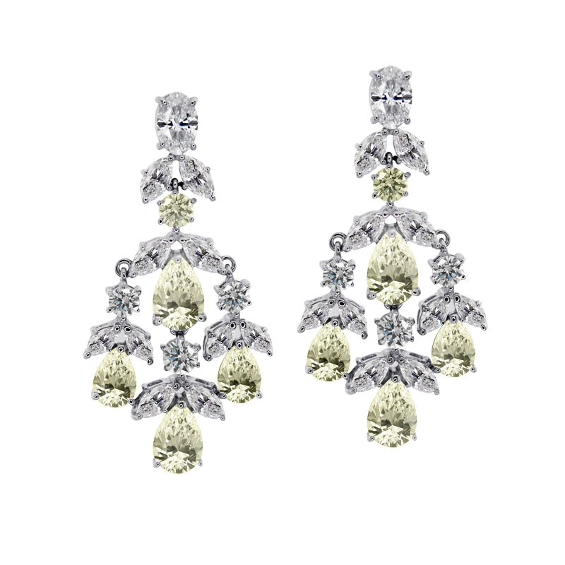 Aster Canary Chandelier Earrings
