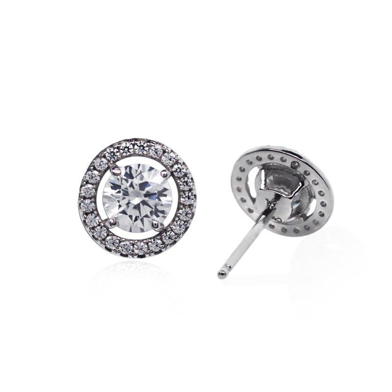 Sterling Silver Stud Earrings - Borderset detail