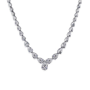 Caroline Pear Line Necklace